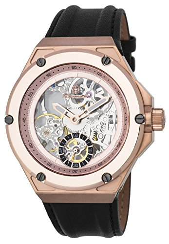 Burgmeister Herren Datum klassisch Mechanik Uhr mit Leder Armband BM232-302