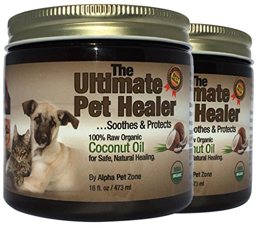 ALPHA PET ZONE Coconut Oil for Dogs & Cats,...
