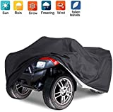 Nomiou All Weather Waterproof ATV Cover, Heavy Duty Black Quad Protects 4 Wheelers Outdoor Protection from Wind UV Sun Snow Rain 76x33x45 inches