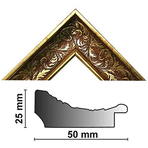 Neumann Bilderrahmen Bilderleiste Gold verziert 913 ORO, HxB 25x50 mm