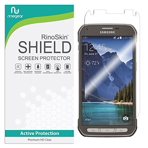 RinoGear Screen Protector for Samsung Galaxy S5 ACTIVE Case Friendly Samsung Galaxy S5 ACTIVE Screen Protector Accessory Full Coverage Clear Film