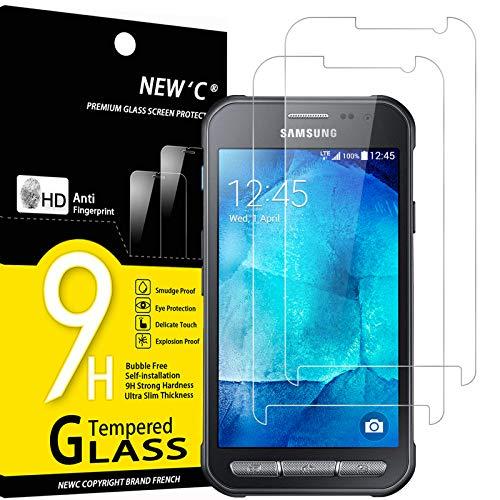NEW\'C 2 Stück, Schutzfolie Kompatibel mit Samsung Galaxy XCover 3 panzerglasfolie, Frei von Kratzern, 9H Härte, HD Displayschutzfolie, 0.33mm Ultra-klar, Ultrabeständig