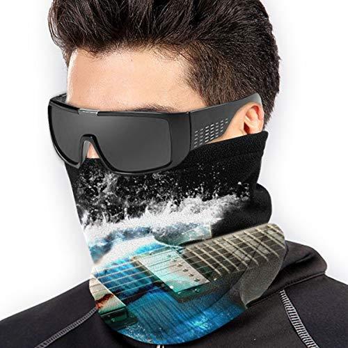 LLOOP Gitarren Airbrush Gemälde CG Digital Art Waves Splash Schal Halswärmer Halswärmer Gamasche Mütze für Ski Wandern Gesichtsmaske Radfahren Kopfbedeckung Hals