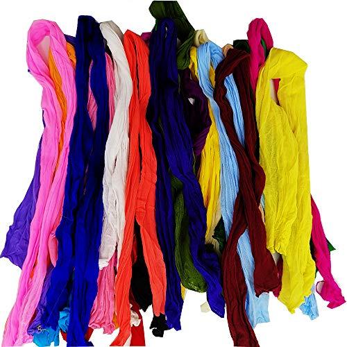 Worldcom Generika Generisches Netz Blumen Stocking DIY Nylon Silk Stockings Blume für DIY Blume 48pcs Multicolor