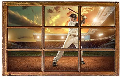 Baseball Sport Wandtattoo Wandsticker Wandaufkleber H0541 Größe 40 cm x 60 cm