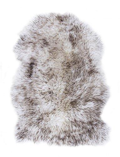 andiamo Fell-Teppich echtes Schaffell Natur Wolfsfell