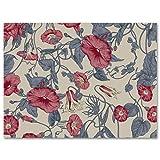 MEITD rojo trompeta flor arte impreso,Pintura de arte de lona de poliéster,Sala cocina dormitorio decoración de pared casera