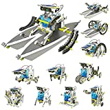 Building Robot for Kids, STEM Educational Toys Robot DIY Learning Science Experiment Kits Robotic Game Toys 13 in 1 Solar Robot Kits Construction Engineering Set for Aged 8 and Up