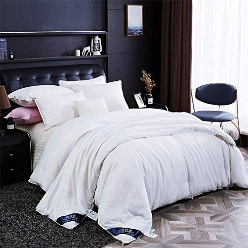 Duvets Winter Thicken 50% Mulberry Silk Duvet Double Size 12.5 Tog All Seasons Duvet Insert Classic Quilt Hypoallergenic Cotton Shell Allergy (Color : 150x200cm)