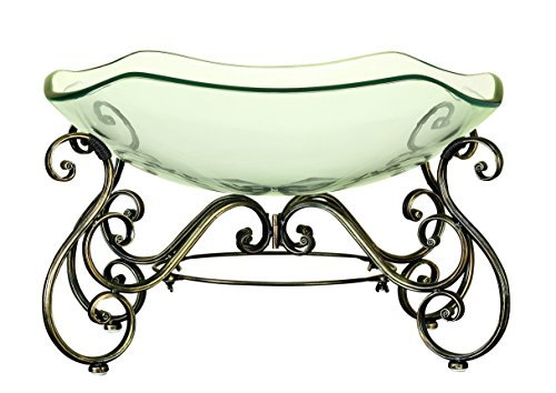 Glass bowl metal stand with great decor appeal