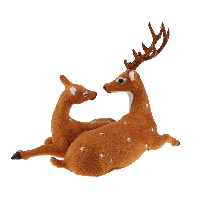 侵略なんでもタイムリーなクリスマス装飾 トナカイ置物 ぬいぐるみ キッズ 玩具  ホーム デコレーション 贈り物 - B:37x17x26cm