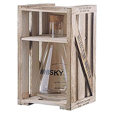 Artland Mixology Whisky Decanter in a Wood Crate Gift Box