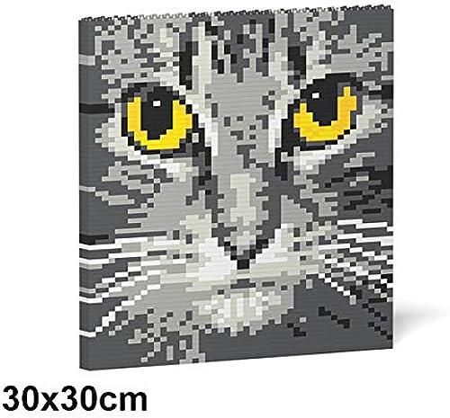 Envío y cambio gratis. JECKA Animal Building Blocks for Kidults Cat Cat Cat Eyes Brick Painting 04S-M02  excelentes precios