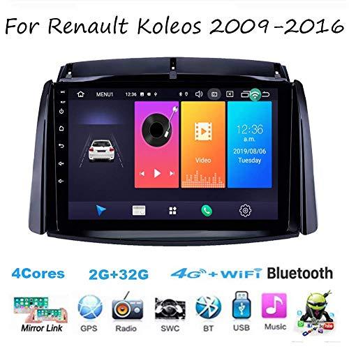 Autoradio Android Radio Sat Nav Doppio Din per Renault Koleos 2009-2016 Navigazione GPS DSP RDS Touchscreen da 9 pollici Unità principale Lettore multimediale Ricevitore video