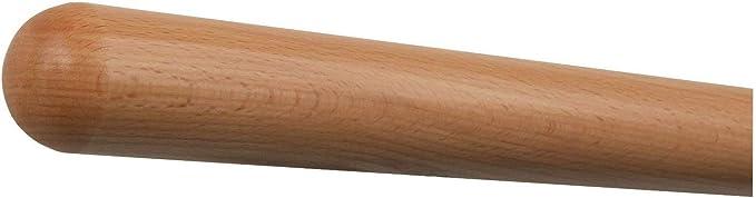 070cm 2 Edelstahl-Halter Halter /Ø42mm in verschiedenen L/ängen Buche Handlauf mit Radius u