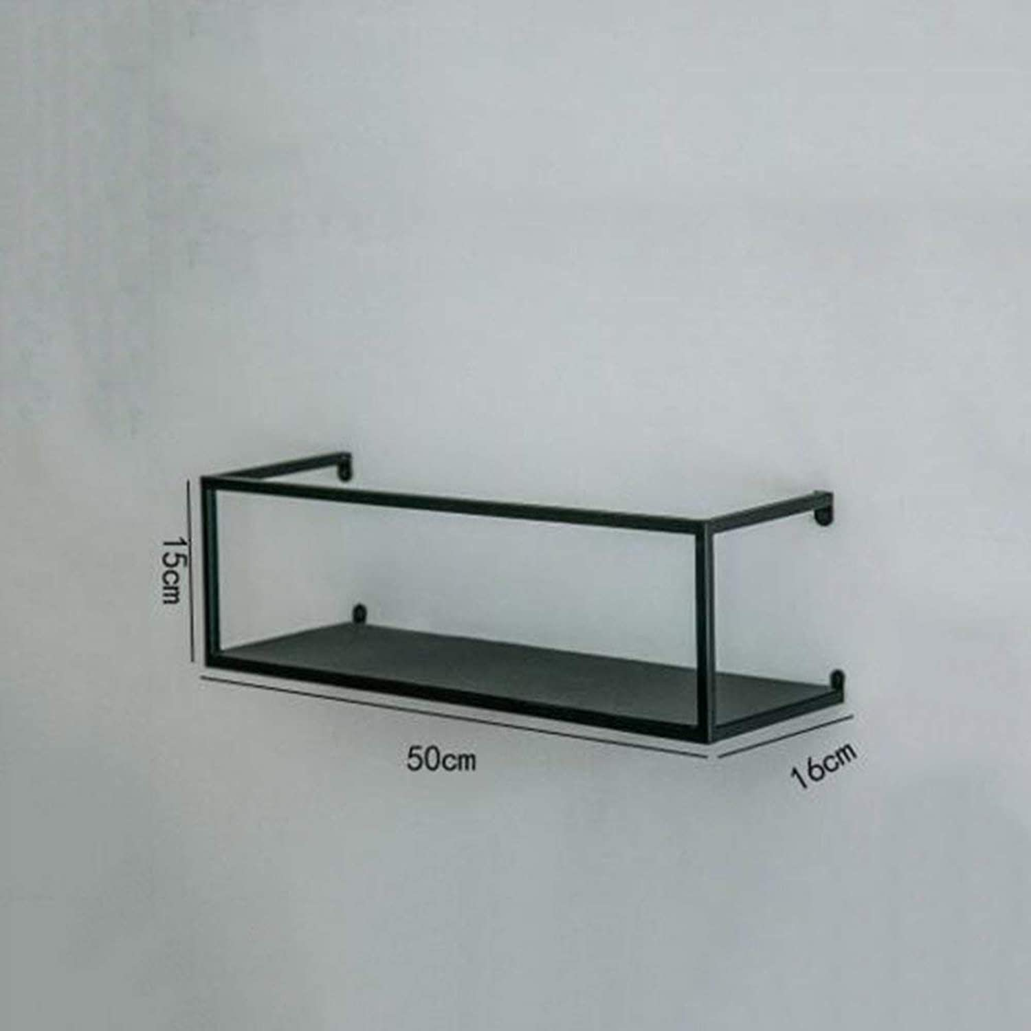 DYR Retro Rack Shelving Wall Iron Wall Shelves Industrial Style A Variety of Styles (color  C)