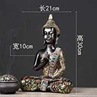 LILICEN 工芸品 装飾 オーナメントの彫像禅装飾仏像お座り仏中国の装飾工芸クリエイティブホームオフィスリビングルームソフト装飾ポーチ飾り 撮影道具 雑貨