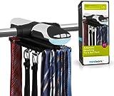 Trendworx Elektrischer Krawattenhalter mit Beleuchtung, Links & Rechtslauf, Schwarz/Silber