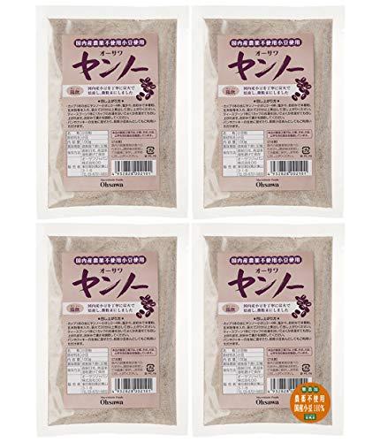 無添加 国産 小豆 全粒粉 ヤンノー 100g×4個★ ネコポス ★ 国内産 農薬不使用 小豆 100%・ 香ばしく、ほのかな甘み
