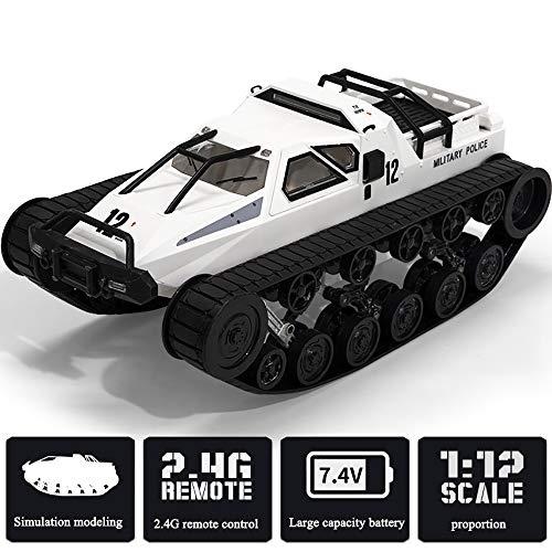 FZTX-LPX Ferngesteuertes Panzerspielzeug Elektrisches Modell Offroad-RC-Hochgeschwindigkeits-Driftauto, 360 ° -Gyroskopisches Doppelstrom-Getriebe Getriebeöffnung Der Möwenflügeltür,Weiß