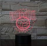 XOOYYY Pallavolo Lampada 3D Colori Tocco Lampada Da Tavolo A Led Da Comodino Lampada Dimmer Lampada Da Tavolo Usb Regali Di Compleanno Colorati