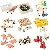 Bartl 500279 9 Mini-Spiele aus Holz für Erwachsene und Kinder