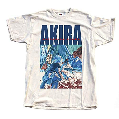 Akira 1988 Natural T-Shirt V7 Manga K.Otomo Tokyo 100% Cotton Sizes S - 5XL