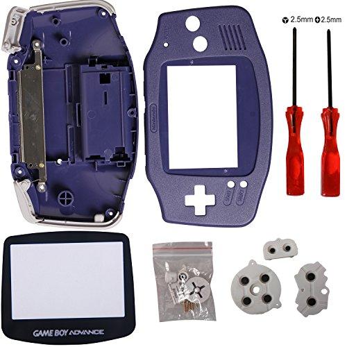 Timorn Ersatz Gehäuse Shell Pack mit Schraubenzieher für Gameboy Advance GBA Controller (Blau)