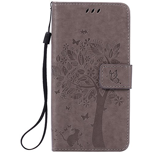 Nancen Compatible with Handyhülle Sony Xperia M5 (5,0 Zoll) Flip Schutzhülle Zubehör Lederhülle mit Silikon Back Cover PU Leder Handytasche Etui Schale