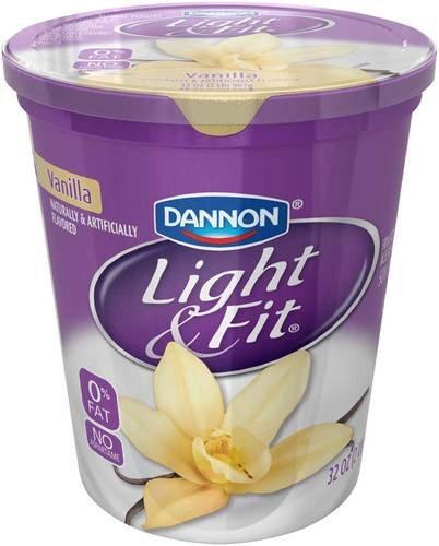 Light and Fit Quarts Vanilla Nonfat Yogurt, 32 Ounce -- 6 per case.