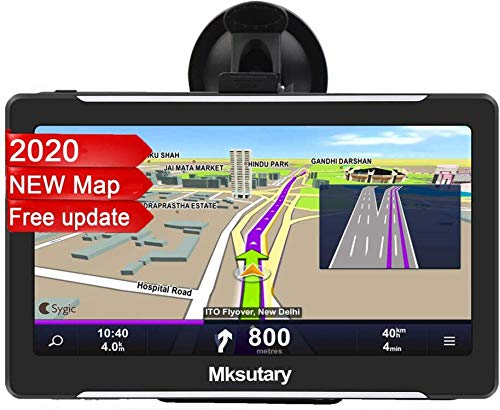 Mksutary 7' GPS Voiture Auto - Cartographie Europe 52 Pays...