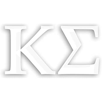 White Officially Licensed Phi Kappa Sigma 8 x 3 Window Decal