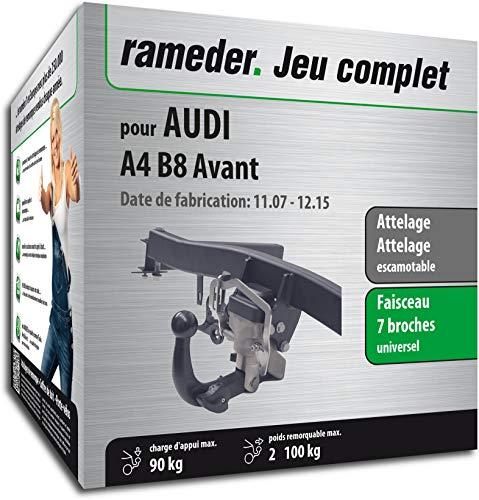 Rameder Pack, attelage escamotable + Faisceau 7 Broches Compatible avec Audi A4 B8 Avant (128622-06988-1-FR)