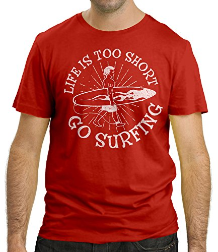 Cressi - Life is too Short - T-Shirt - Homme - Rouge - Taille: XXL