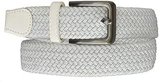 Small, Grey Marshal Wallet Braided Stretch Belt With Gunmetal Buckle