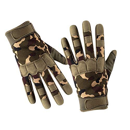 fuchsiaan Guantes de fitness transpirables antideslizantes de entrenamiento de fuerza medio dedo al aire libre levantamiento de pesas guantes para hombres y mujeres, camuflaje verde M