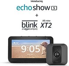 Echo Show 5 (Charcoal) with Blink XT2 Outdoor/Indoor Smart Security Camera
