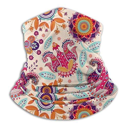 Mathillda halsdoek van fleece met bloemenpatroon – omkeerbare halsdoek – veelzijdige vaatwarmer – H2-JK