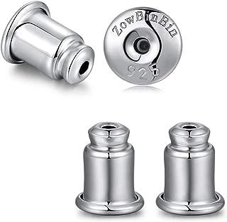 Earring Backs Locking Earring Backs Sterling Silver Hypoallergenic Secure Earring Backs,Stud Earring Backs Safety Posts Earring Backs White Gold Earring Backs Replacement Earring Backs Safety Backs