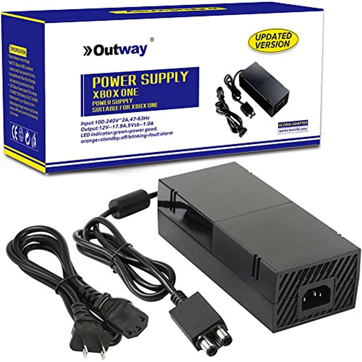 [Updated Version] OEM AC Adapter Charger Power Supply for Xbox One Console with Cord Cable
