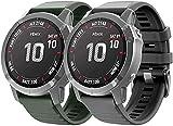Classicase Correa de Reloj Reemplazo Compatible con Garmin Fenix 6X Pro/Fenix 6X Sapphire/Fenix 3 / Fenix 5X Plus/5X Sapphire, la Correa de Reloj Watch Band Accessorios (Pattern 1+Pattern 5)
