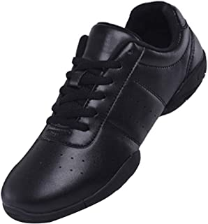 Inlefen Female and Kids Thicken PU Sole Modern Square Dance Sport Gym Shoes