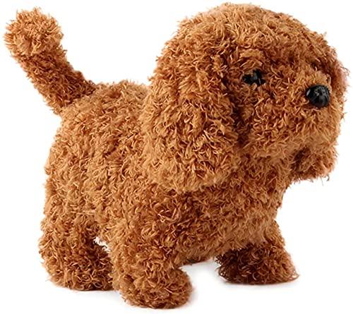 Simulación eléctrica Teddy Dog Peluches Juguete inteligente para perros que suena y camina Cachorro Animal Toy Juguetes educativos para niños...
