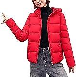 Parker - Chaqueta acolchada para mujer con capucha, forro polar de longitud media, abrigo grueso para invierno 2020