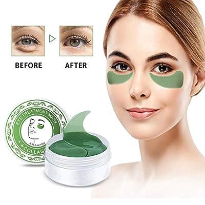 Collagen Eye Mask, Hailicare Under Eye Mask, 30 Pairs Anti Aging Eye Patch, Collagen Eye Pads, Eye Treatment Mask for Puffy Eyes & Bags, Remove Dark Circles & Wrinkles Moisturiser Masks (Green)