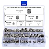 WiMas 105Pcs Stainless Steel Wire Thread Inserts Assortment Kit Helicoil Type Thread Inser...