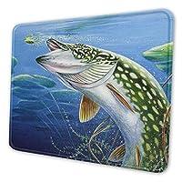 魚 マウスパッド 18 X 22cm 滑り止め 防水 おしゃれ 洗える ビジネス用 家庭用 ゲーム用