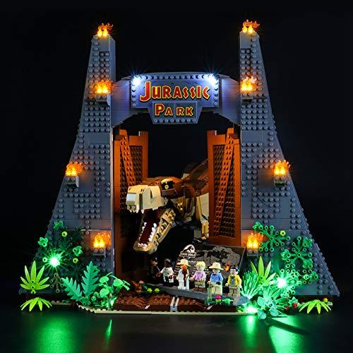 Kit de iluminación Alimentado por USB para Lego 75936 Jurassic World Jurassic Park: T. Rex Rampage, Juego de Luces LED Compatible con Lego 75927 para niños educativos (no Incluye el Modelo)