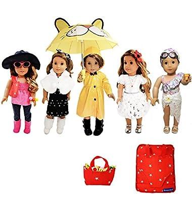 Weardoll 33 Piece American Girl Doll Accessories - 18 inch Doll Clothes Accessories Set Fits American Girl, Our Generation, Journey Girls