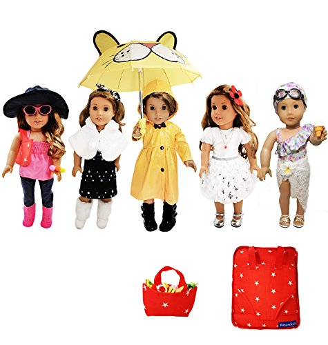 Weardoll 33-Piece Clothing Set for 18-inch Dolls